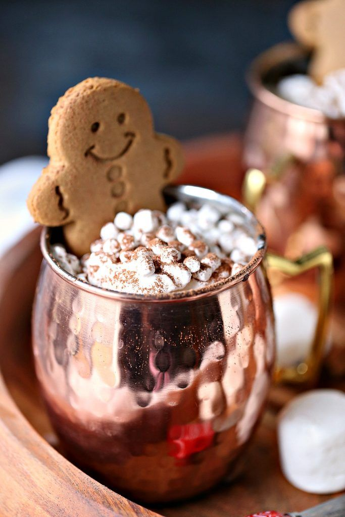 Gingerbread Hot Chocolate Recipe | Cravings of a Lunatic - Featured at the Home Matters Linky Party 165