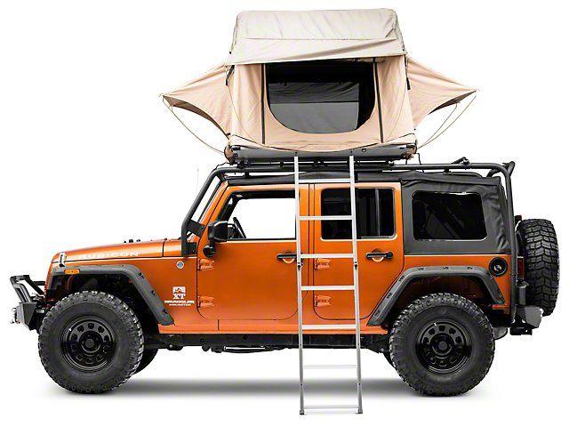 Smittybilt Jeep Wrangler Overlander Roof Top Tent Coyote Tan 2783 Universal Fitment Roof Top Tent Roof Tent Truck Tent