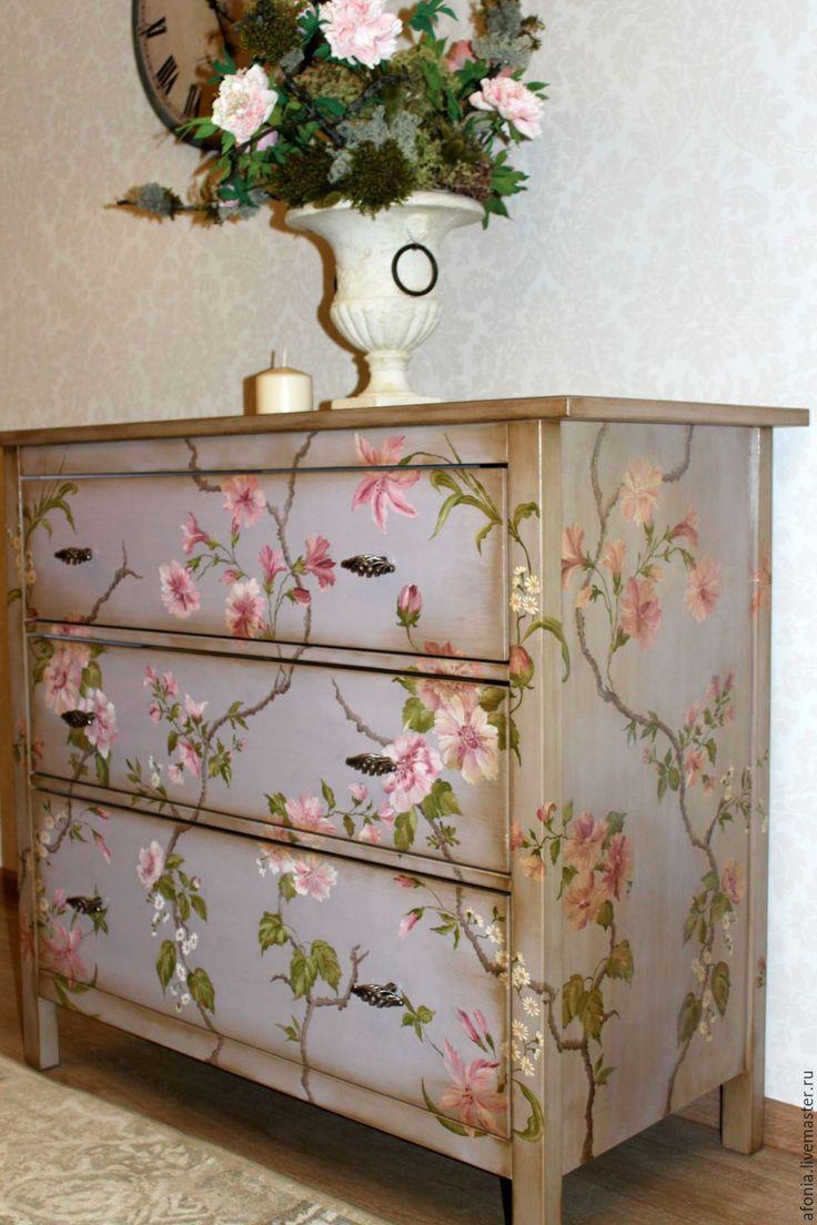 """Купить Роспись мебели! Комод """" Цветущий сад"""" - Мебель, мебель из дерева, мебель для детской"""