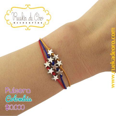 Pulsera Colombia   Rueka de Oro accesorios www.ruekadeoro.com #accesorios #aretes #collares #pulseras #bolsos #cuellos #relojes #fashion #colombia #bogota