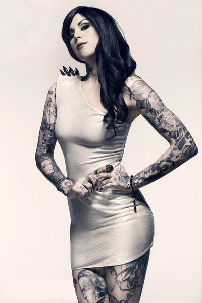 手机壳定制jordan retro  bred   LOVE Kat von D an her tattoos