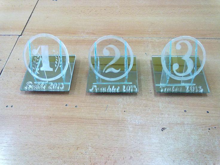trofea sportowe - piaskowane szkło