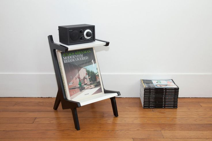 Radio Rack (above) - holds a Tivoli Audio radio and your favorite magazines below. Perfect piece to have next to a reading chair or in any room's corner.