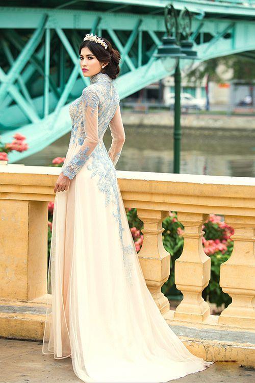 Áo dài cưới kiêu sa