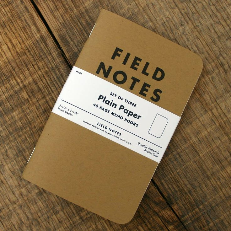 Field Notes 3-pack Plain Paper €11.14