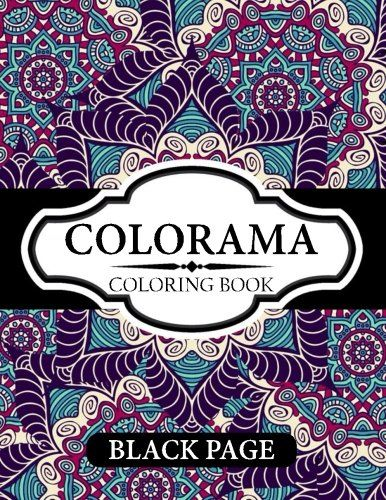 Colorama Coloring Book Black Page Stress Relieving Patterns Books For Adults