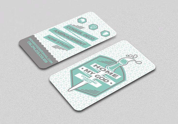 Carte de visite Home My God #deco #coaching  Cornet de Pixels - Graphisme - Lille