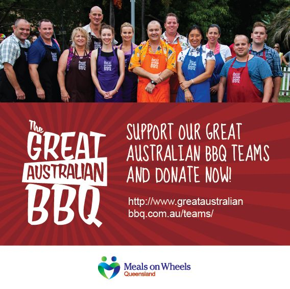 The Great Australian BBQ with @Meals on Wheels Queensland @Danielle Crismani @bakedrelief @mikeygold @Liz Cantor @Dominique Romo Barras