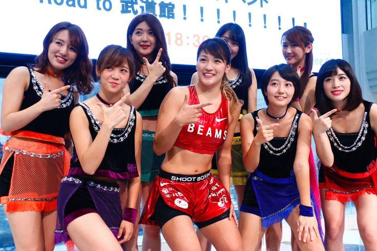 """シュートボクシング協会 on Twitter: """"10月13日(木)東京・池袋のサンシャインシティ噴水広場にて、アイドルグループ「アップアップガールズ(仮)」の新曲リリースイベントが開催され、RENAがゲスト出演した。 #シュートボクシング #uugirl #アプガ #格闘技"""