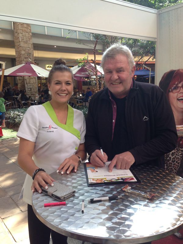 Leon Schuster visited our stand at the Clearwater Mall activation