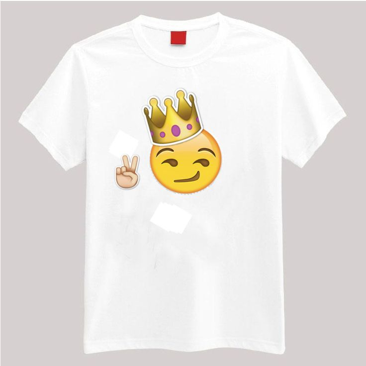 The king of emojis. Description: •5.3-ounce, 100% cotton (preshrunk) •Double-needle sleeves and hem •Taped neck and shoulders