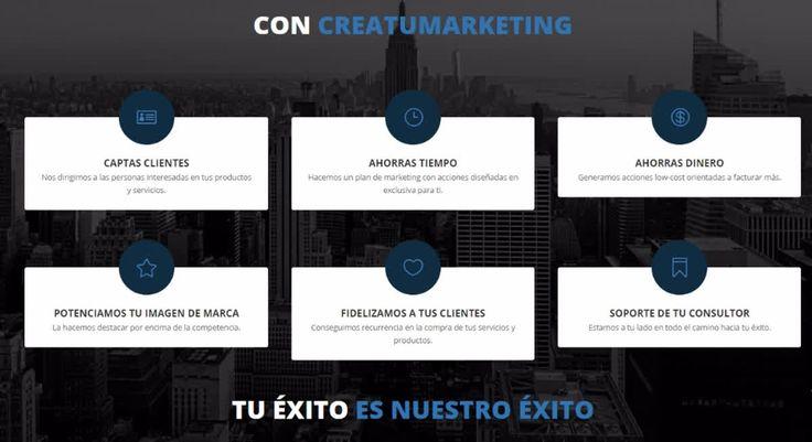 ¿Te has preguntado qué puedes conseguir con Creatumarketing? 👇    🆕 www.creatumarketing.com - ☎ 93 546 75 91