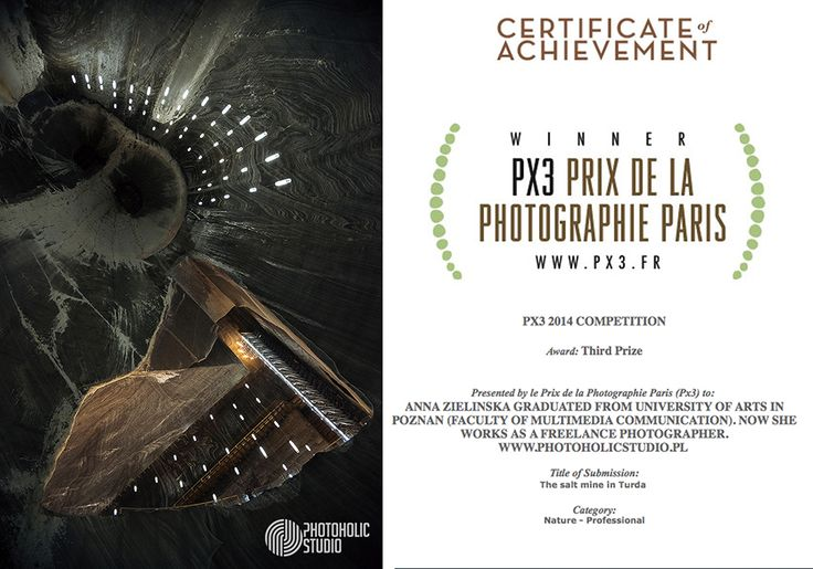 "Two years ago I visited The salt mine in Turda (Romania). Which is incredible place. I took some photos. One of them has gotten third prize on The ""Prix de la Photographie, Paris"" (Px3) competition. I truly recommend this place for visiting."