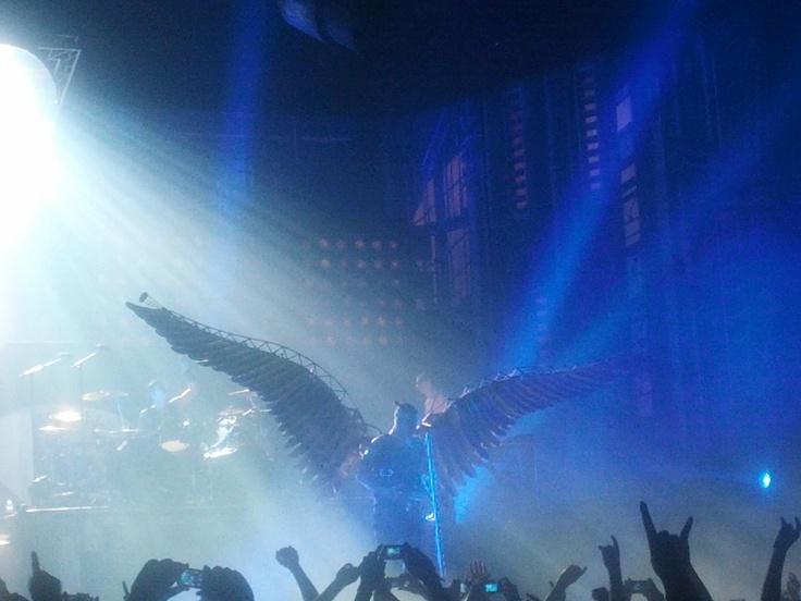 Rammstein Angel on stage in Dublin