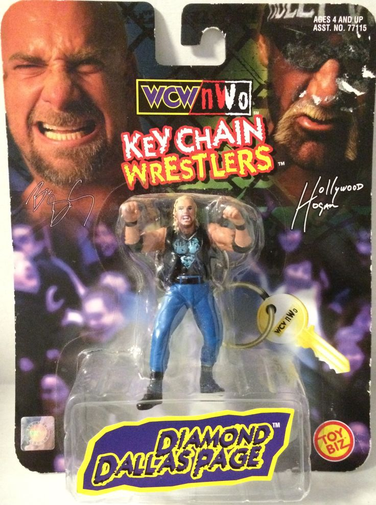 (TAS032104) - Toy Biz WCW nWo Wrestling Keychain - Diamond Dallas Page WWE