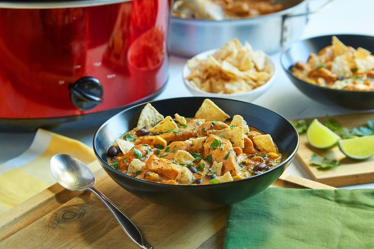 Get fresh ingredients for some of our best recipes, like our slow cooker chicken tortilla soup, delivered right to your door through our new meal kit delivery partnership with Chef'd.