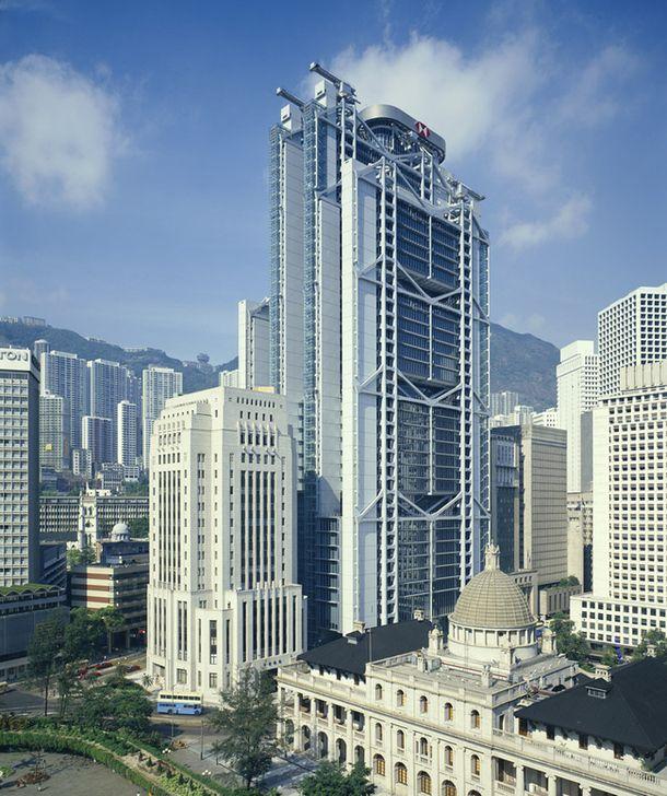 Банк Гонконга и Шанхая, Гонконг, 1979–1986, арх. Норман Фостер