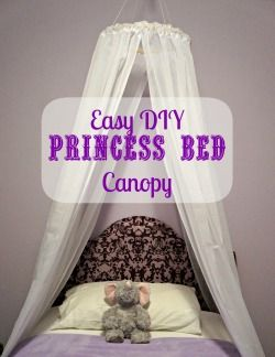Easy DIY Princess Canopy. Gotta do this for my pretty girl!