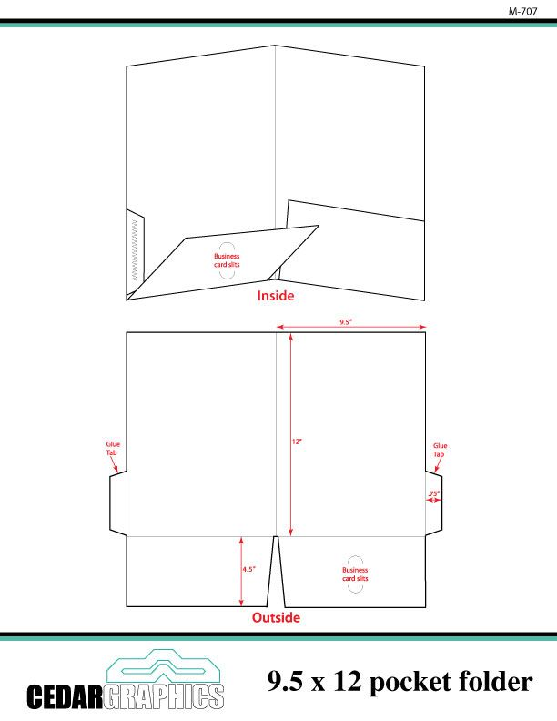 pocket folder 9 5 quot x 12 quot template adobe indesign and non profit project