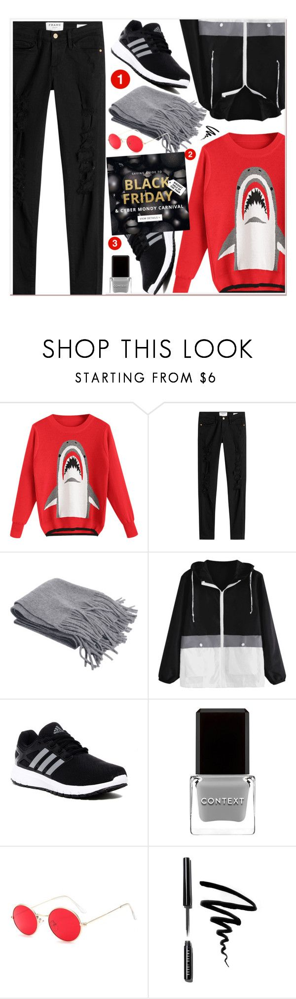 """""""Black Friday&Cyber Monday Carnival"""" by zaful ❤ liked on Polyvore featuring Frame, adidas, Context and Bobbi Brown Cosmetics"""