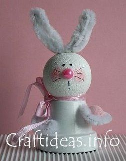 clay pot easter bunny