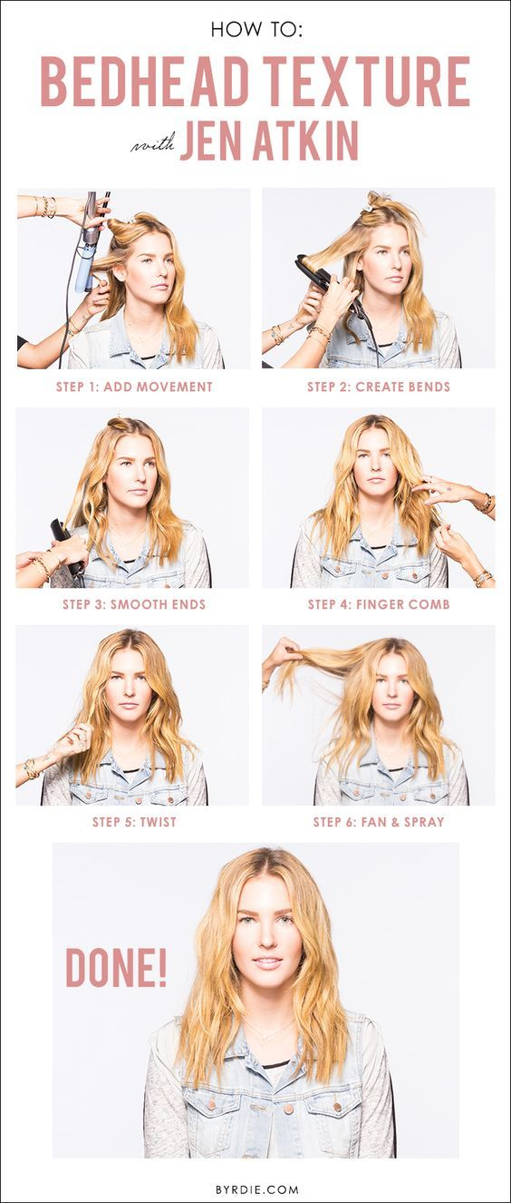 A tutorial from celebrity hairstylist Jen Atkin for perfectly tousled bedhead hair: