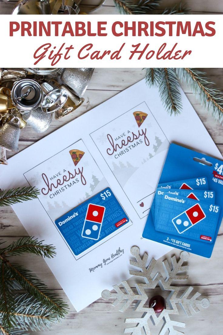 Free Printable Christmas Gift Card Holder Perfect For Teacher G