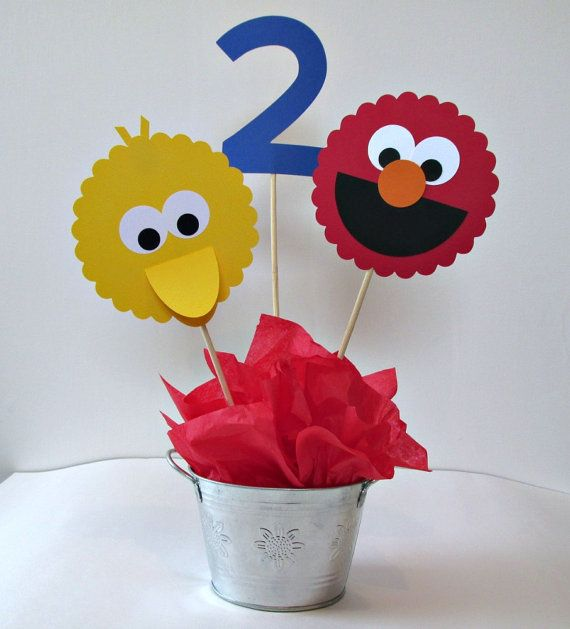 Sesame Street Centerpiece by 2CheekyChicks on Etsy