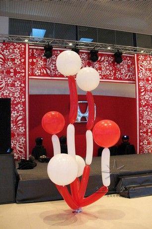 Необычные - букеты - из - 27  - дюймовых  - шаров - для - украшения - корпоративного - мероприятия. Оформление праздников