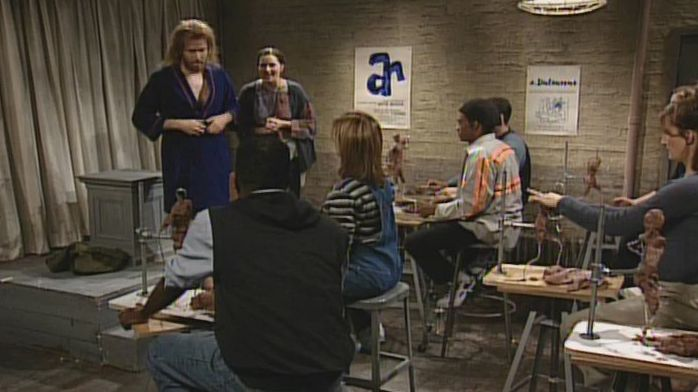 Terrence Maddox (Will Ferrell) is a nude model for a sculpture class, but his inappropriate behavior disgusts the teacher (Lucy Lawless) and students (Cheri Oteri, Ana Gasteyer, Tim Meadows). [Season 24, 1998]