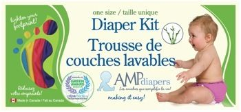 AMP One-Size Duo Diaper Kit- Bamboo