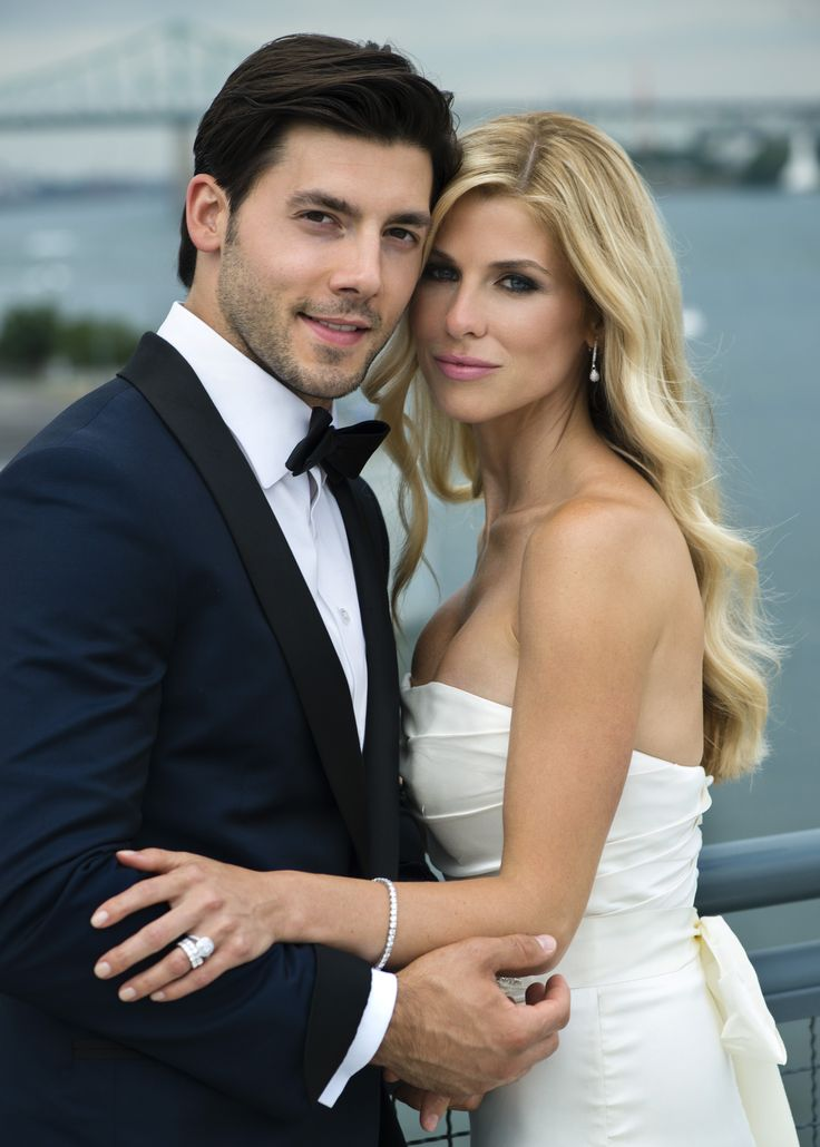 Stunning Catherine and Kris Letang. Photographed by Michael Greenberg