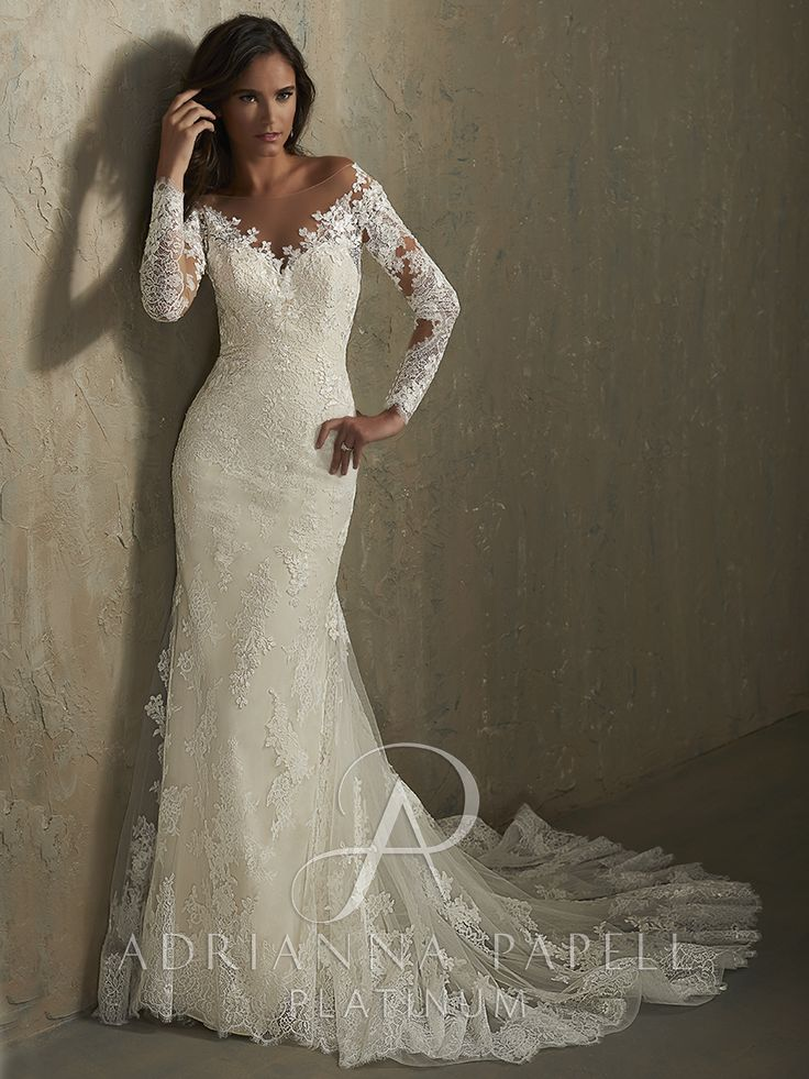10 best Adrianna Papell Wedding Gowns images on Pinterest | Short ...