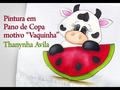 Thanynha Avila-Arte Brasil,Pintura em Pano de Copa Vaquinha- iniciantes