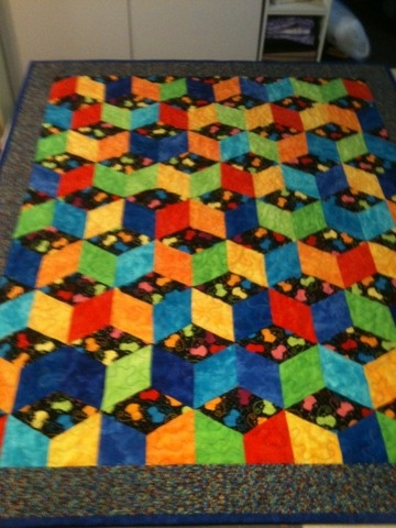 Baby quilt ... love the 3D effect!!