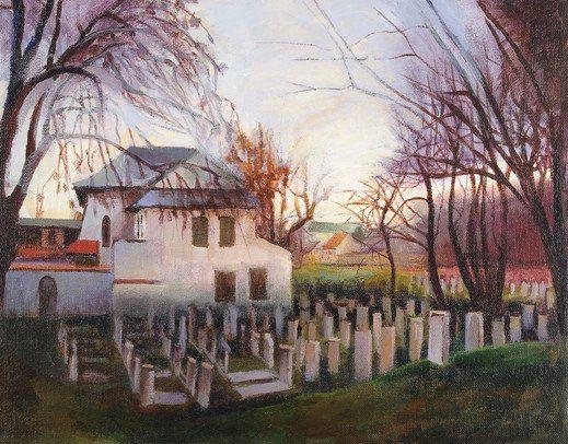 """Рената Рыхлик #Renata_Rychlik """"Еврейское кладбище в Кракове"""" Дана Сидерос  """"Идут неспешно вдоль ряда, пялятся, выбирают:  — Смотри, мне такой же надо, как белоснежный, с краю."""""""