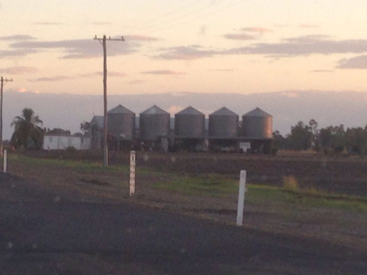 Silos on the outskirts of Dalby