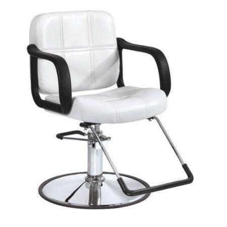 BestSalon° White Modern Fashion Hydraulic Barber Chair Styling Salon Beauty E... - Walmart.com