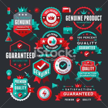 Flat UI Style Labels Collection Royalty Free Stock Vector Art Illustration