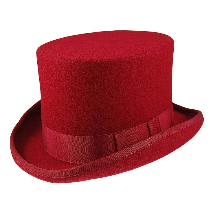 Christys Hats Wool Top Hat - Red