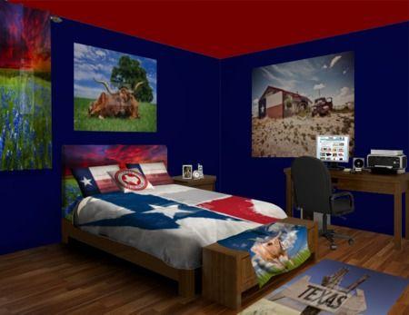 Com Texas Blues Bedroom Rm 22716 Texas Themed Bedroom Decor