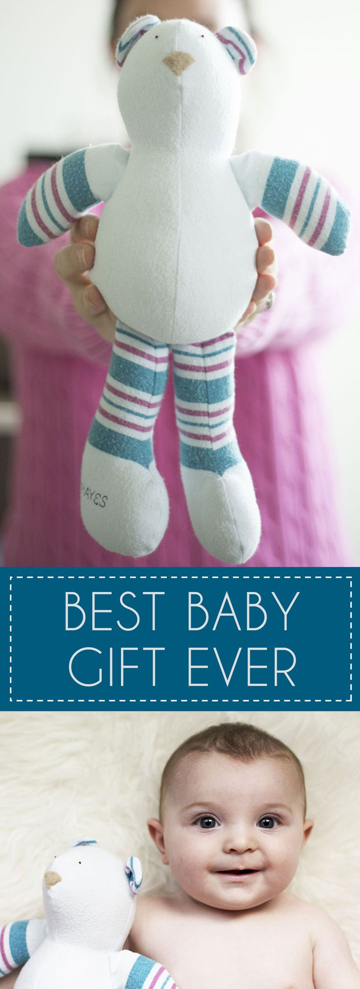Best Baby Gift Ever ~ made from your babies hospital blanket!
