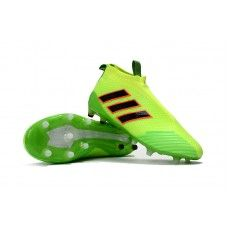 Adidas ACE 17+ Purecontrol FG Soccer Cleats - Yellow/Green/Core Black/Orange Online Store