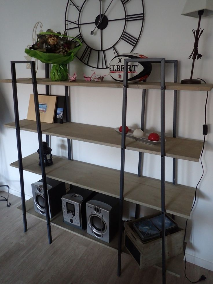 Fabriquer des étagères style industriel à partir d'étagères Ikea Lerberg                                                                                                                                                                                 Plus