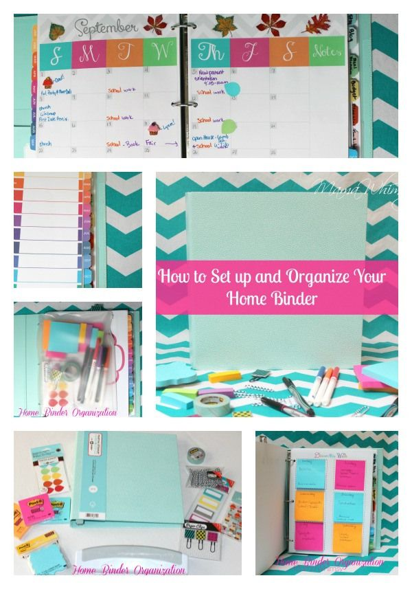 Diy home organization binder