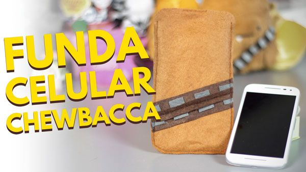 Fundas personalizadas CHEWBACCA / Accesorios para celulares (Manualidades con fieltro)