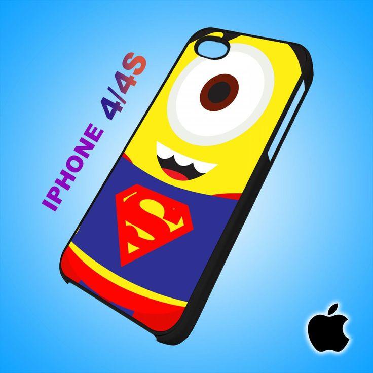Despicable Me Avengers Superman Minion iPhone 4/4S Case Durable Plastic