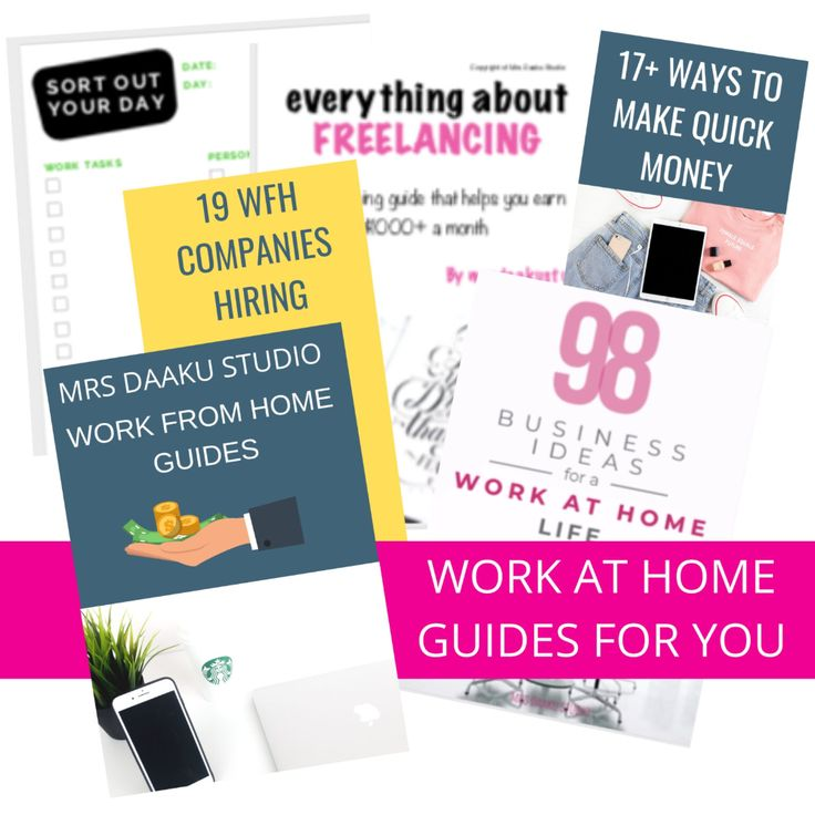 Free Work from home resources Mrs. Daaku Studio in 2020