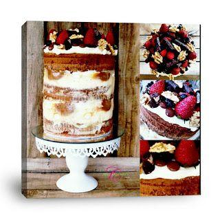 Mary Elizabeth's Creations: White Chocolate Naked Cake