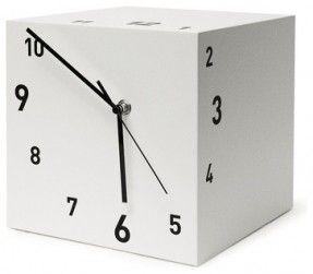 Tothora Quadra 15 White Table Clock - contemporary - Desk And Mantel Clocks…
